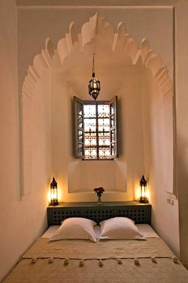 Moroccan Bedroom Decor: Mosaic Window With Eight Panels