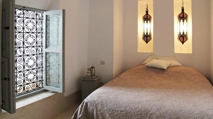 Moroccan Bedroom Decor: Window With Beautiful Wrought Iron Lattice