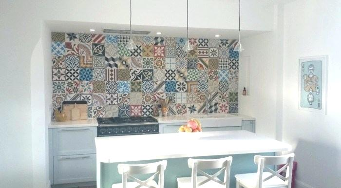 Moroccan Themed Kitchen Nook With Colourful Patterned Tiles