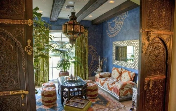 Authentically Re-created Moroccan Themed Living Room
