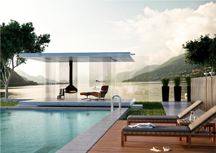 Transparent Glass Pavilion