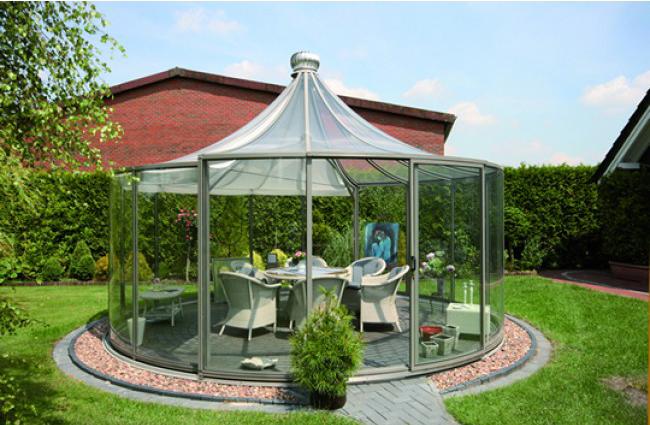 Circular Glass Pavilion