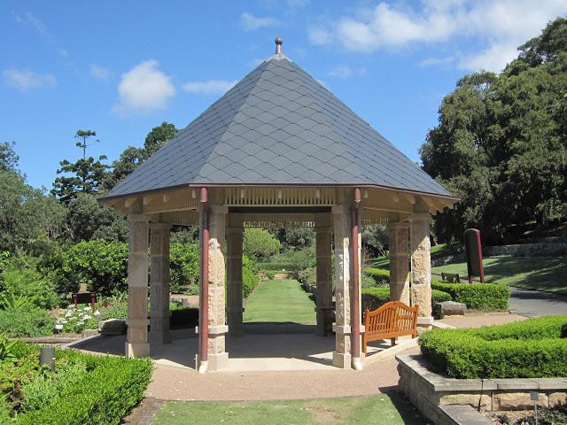 Sandstone Pavilion in Herb Garden