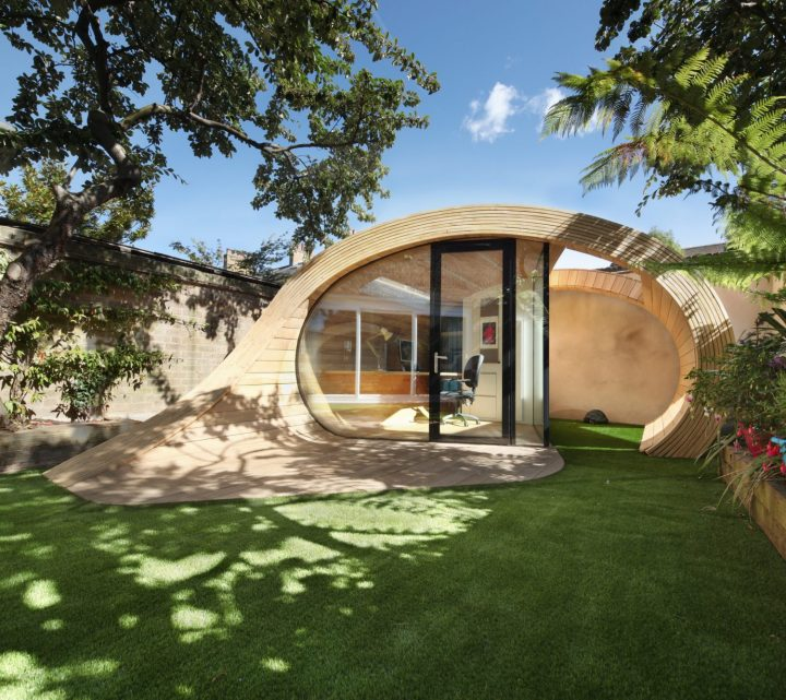 Pavilion with a Stunning Pebble Shape