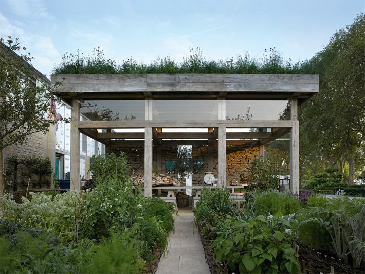 Pavilion with Planted Grass Roof