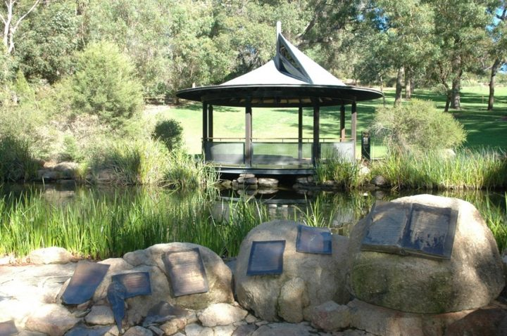 Pavilion at a Pond
