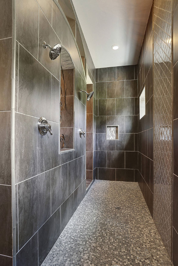 Penny Tile Shower Floor