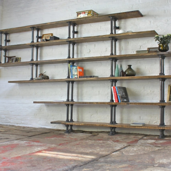 Exposed Pipes Bookshelf