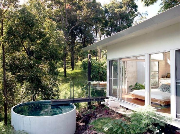 Plunge Pool Made Of A Concrete Tank