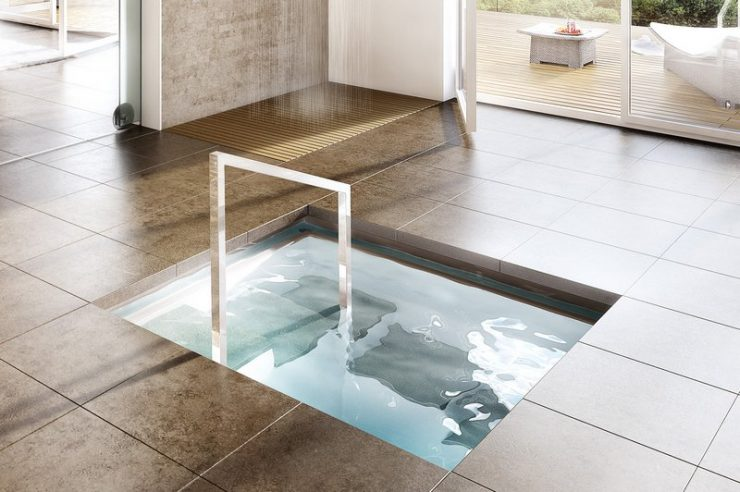 Indoor Plunge Pool for Cooling Off After Going to the Sauna