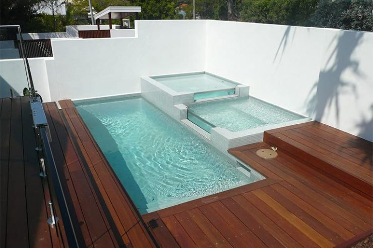 Three-Tiered Spa Oasis with Pool