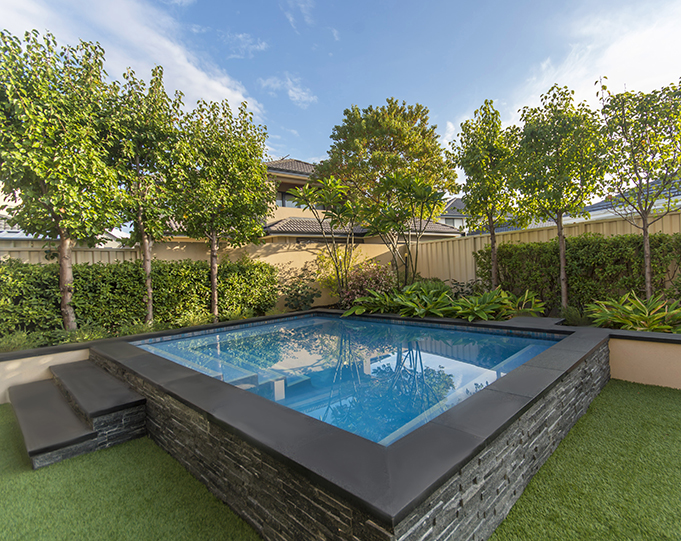 Plunge Pool with Stone Walls