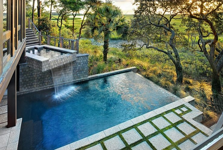 Infinity Plunge Pool With Waterfall