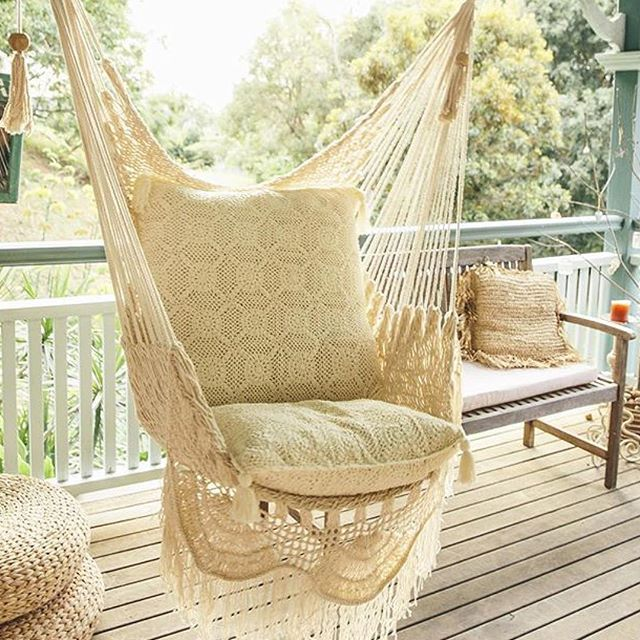 Beige, Lacey Hammock Chair