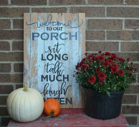 Handmade Welcome to Our Porch Sign