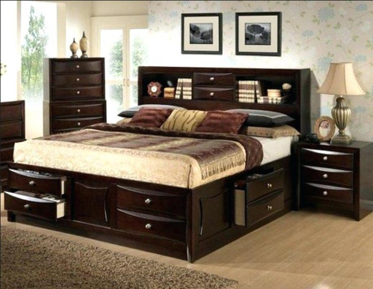 Bed with Drawers Black