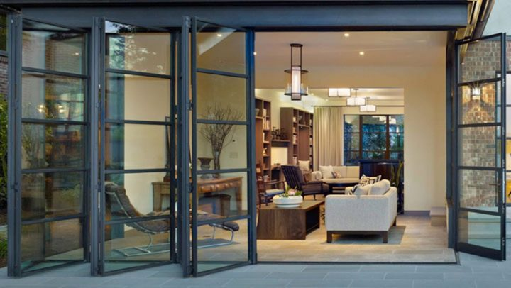 Folding or Accordion Glass Doors as Alternative for Sliding Doors