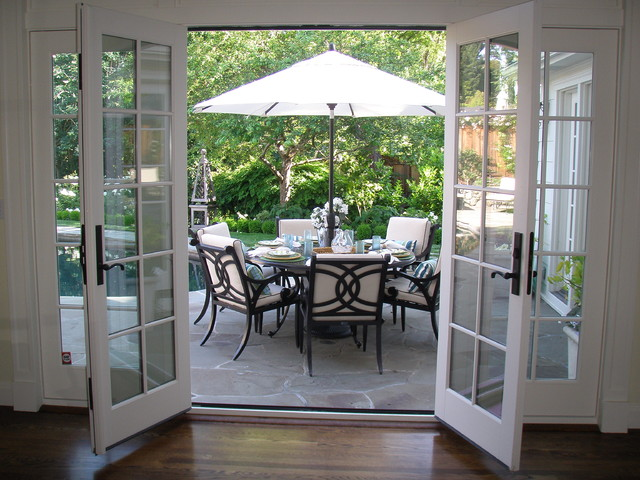 Inward Opening French Doors as Sliding Glass Door Alternative
