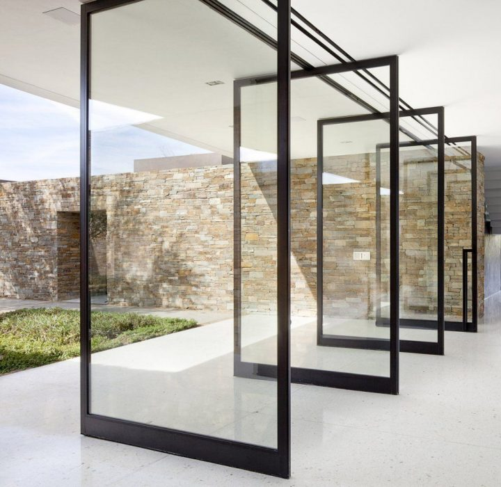 A Series of Pivot Doors as Alternative to Sliding Glass Door