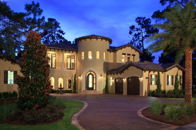 Mediterranean-Style Villa With Circular Turret