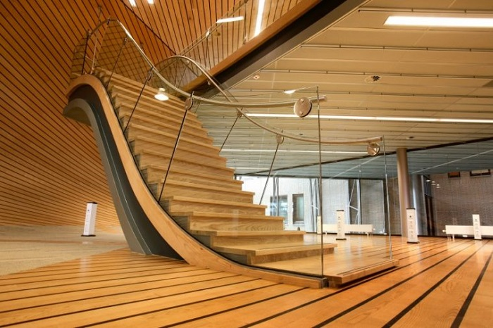 Unique Stair Design in Wave-Shape