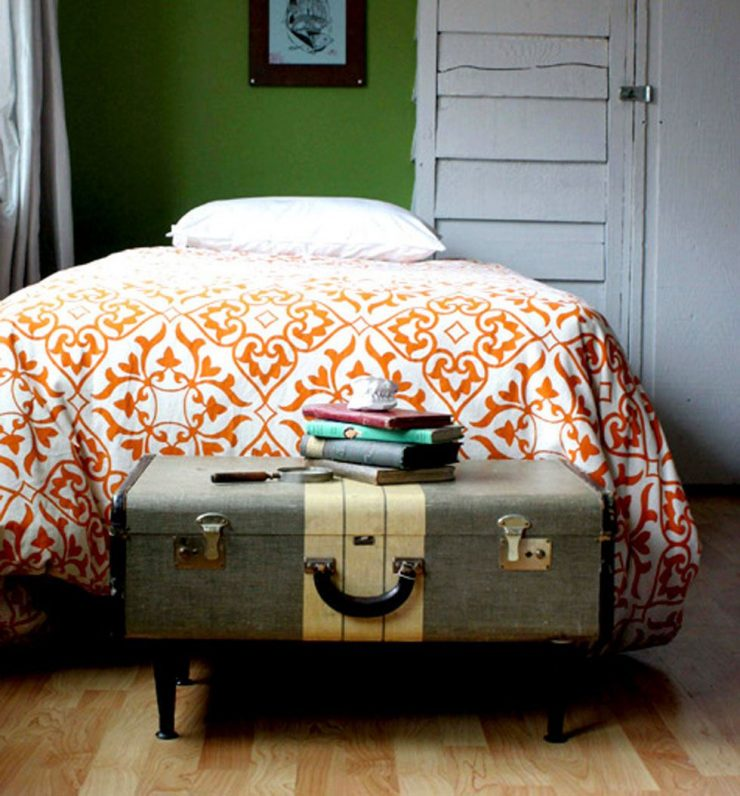 Suitcase at Foot of the Bed